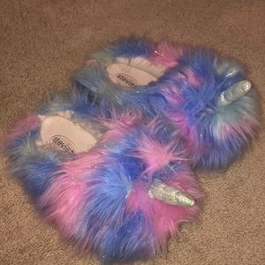 """Unicorn Dreams"" girls slippers"